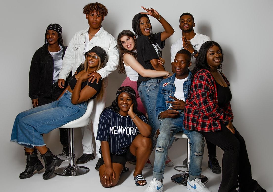 verjaardag groep shoot